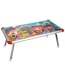 NHR Kids Multipurpose Bed Table with Foldable Legs Doll Print - Multicolor
