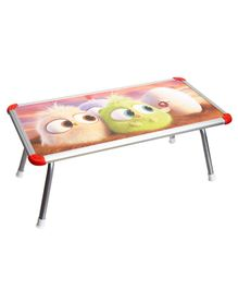 NHR Kids Multipurpose Bed Table with Foldable Legs Bird Print - Multicolor