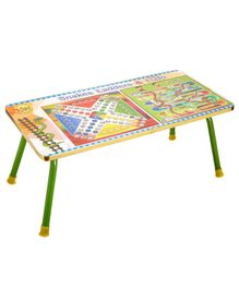 NHR Kids Multipurpose Bed Table with Foldable Legs Ludo Print - Multicolor