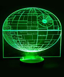 Bluday Colour Changing 3D LED Lamp Globe Shape - Green