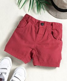 Little Kangaroos Solid Color Shorts - Red