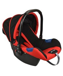 Notty Ride Baby Car Seat Cum Carry Cot With Canopy - Red