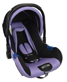 Notty Ride Baby Car Seat Cum Carry Cot With Canopy - Purple