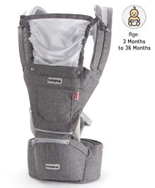Babyhug Harmony 3 In 1 Hip Seat Cum Baby Carrier - Grey