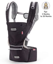Babyhug Harmony 3 In 1 Hip Seat Cum Baby Carrier - Black
