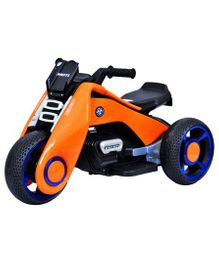 HappyKids Ride On Bike With Led Lights Music - Orange