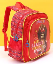 Masha And The Bear School Bag Red - 12 Inches