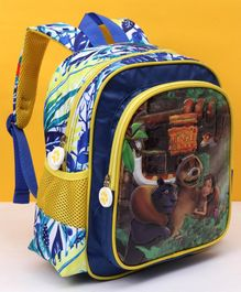 Jungle Book Mougli And Friends School Bag Blue - Height 12 inches