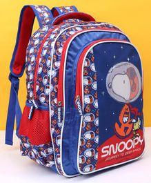 Peanuts Snoopy Journey To Deep Space School Bag Blue - Height 16 inches