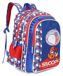Peanuts Snoopy Deep In Space Print School Bag Blue - Height 14 Inches