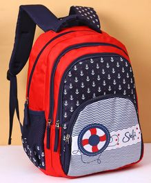 3682b86c68cc Disney Steffi Love School Bag Anchor Print Blue Red - Height 17 inches