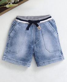 96f9e186a957 Babyhug Denim Shorts With Drawstring - Light Blue