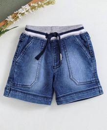 c5e346909aa9 Babyhug Denim Shorts With Drawstring - Dark Blue