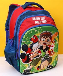Ben 10 School Bag Blue & Red - Height 18 Inches
