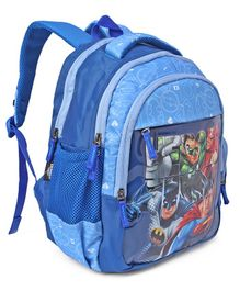 DC Comic Justice League School Bag Blue - 14 Inches