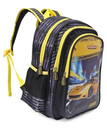 Majorette Oxide Print School Bag Yellow & Black - Height 14 Inches