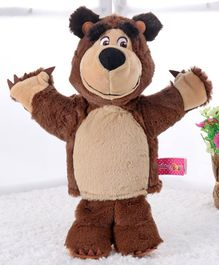Masha and the Bear Plush Hand Puppet Toy Brown - 26 cm