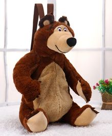 Masha and the Bear Backpack Brown - 17 Inches