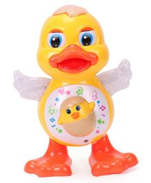 LuvLap Dancing Duck With Music & Flashing 3D Lights - Yellow