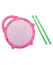 LuvLap Flash Drum With Sticks - Pink Green