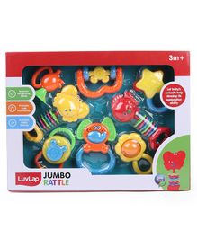 LuvLap Rattle Set Pack of 8 - Multicolor