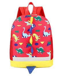 Vismintrend School Bag Dinosaur Print Red - 12 Inches