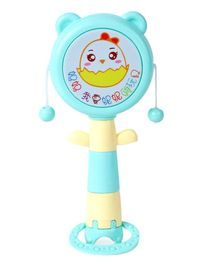 Baby Rattle Drum Spin Toy - Aqua Blue