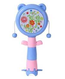 Baby Rattle Drum Spin Toy - Blue