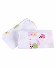 My Milestones Muslin Swaddle Dutch Country Print - Pink