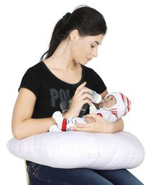 Colorfly Printed Feeding Pillow - White