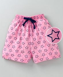 Fido Shorts With Drawstrings Star Print - Pink