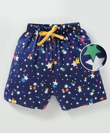 Fido Shorts With Drawstrings Star Print - Blue