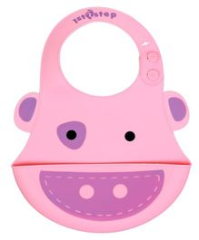1st Step BPA, PVC, Phthalates Free Silicone Bib With Crumb Catcher - Pink
