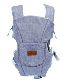 1st Step 3 Way Carrier With Adjustable Padded Straps & Side Openings, Attachable Hood And Storage Pocket - Light Grey
