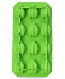 Ice Cube Tray Bananna Shape - Green