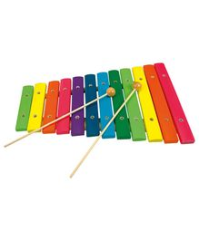 Bino Wooden Xylophone Toy - Multicolour