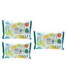 Pur Baby Wet Wipes Pack Of 3 - 120 Wipes
