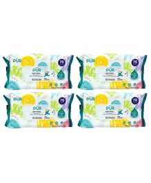 Pur Baby Wet Wipes Pack Of 4 - 280 Wipes