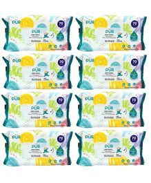 Pur Baby Wet Wipes Set of 8 Packs - 70 Wipes Each