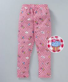 Swanky Me Checked Full Length Pajama - Red