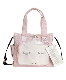 Mi Dulce An'ya Organic Diaper Bag Unicorn Face - Pink