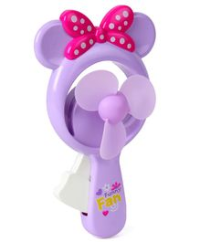 Mini Toy Fan With Bow - Purple