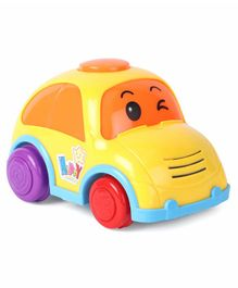 Friction Powered Plastic Car Toy - Yellow