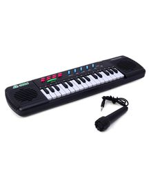 31 Keys Electronic Keyboard With Microphone - Black