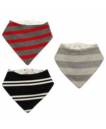 Kadambaby Striped Bandana Bibs Pack of 3 - Multicolor