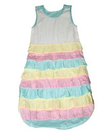 Kadambaby Frilled Sleeping Bag - Multicolour