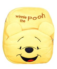 O Teddy Soft Plush Fabric Winnie The Pooh School Bag Yellow - 14 inches