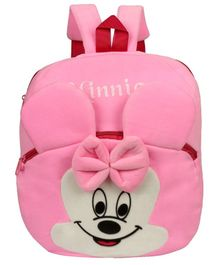 O Teddy Minnie Soft Toy Plush Bag Pink - Height 14 inches