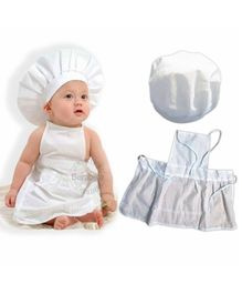 Bembika Newborn Master chef Costume Photography Prop Set  - White