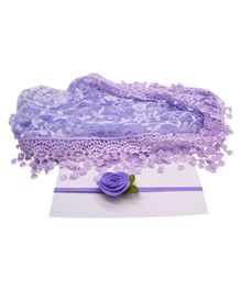 Bembika Newborn Baby Embroidery Lace Wrapper For Baby Photography Props - Purple